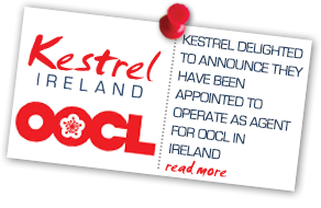 Kestrel delighted to announce - operating as agent for OOCL in Ireland
